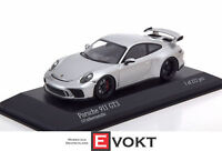 Porsche 911 (991 II) GT3 year 2017 silver metallic 1:43 Minichamps New