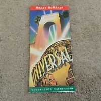 Vintage Universal Studios Florida Holiday Park Brochure 1998 Mint Condition