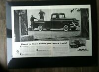 "1956 GMC Pickup Stepside  Farm Trucks *Original* ""Ready to Display"" print ad"