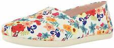 Toms Classic Natural Floral Print Womens Canvas Espadrilles Shoes