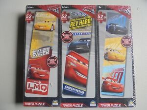 1 PACK OF 3 X 52 PIECE JIGSAW PUZZLES FROM CARS DISNEY PIXAR...TOWER PUZZLE