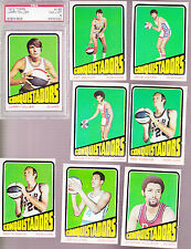 1972 /  73 Topps ABA Team SET Lot of 8 San Diego CONQUISTADORS  NM- w/ PSA 8