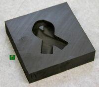 Awareness Ribbon Push Mold 2x2 Graphite Glass Lampwork
