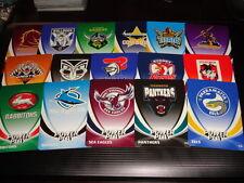 2013 NRL POWER PLAY GLOW IN THE DARK TEAM LOGO SET OF 16 CARDS