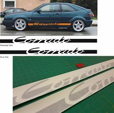 VW Volkswagen Corrado VR6 G60 Side Stripes Graphics Decals Stickers VW Dub