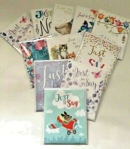 Note Cards Just To Say Thank You Blank Cards 4 Pack Various Designs Noel Tatt