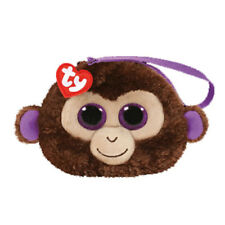 New 2017 TY Gear Beanie Boos COCONUT the Monkey Wristlet Coin Purse with Strap