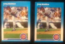 1987 Fleer Update Lot (2), #U-68, HOF Greg Maddux Rookie, Chicago Cubs, PSA!