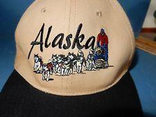 ALASKA SIBERIAN HUSKY SLED DOG TEAM  BALL CAP HAT low top adjustable size