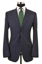 Luigi Bianchi Mantova LBM 1911 Blue Wool Check Sport Coat Jacket Blazer 40 R
