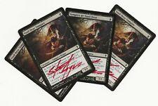 4 GUUL DRAZ VAMPIRE SIGNED Steve Argyle Magic 1x ESP 3x ENG Zendikar Vampiro MTG
