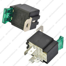 12V 4 Pin 30A Fused Relay With Bracket 12 Volt Normally Open On/Off - Pack 2