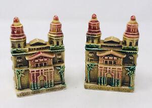 Casa Grande Hearst Castle Salt And Pepper Shakers Glossy Vintage EFCCO Japan