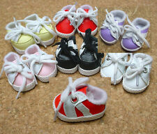 """Doll Shoes, 38mm Red w White Sporty for 11"""" Kaye Wiggs, others"""