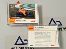 2020 Topps Now Formula 1 F1 #24 McLaren Team secures 3rd Place Abu Dahbi Norris