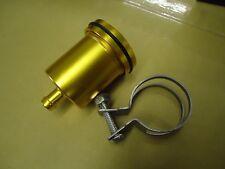 BILLET Aluminium GOLD  Brake Clutch Reservoir Pot - Streetfighter Cafe Racer