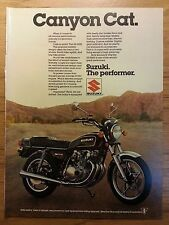 Original 1979 Suzuki GS-550E Vintage Print Ad- Canyon Cat