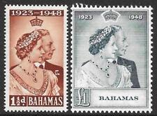 Bahamas 1948 Royal Silver wedding Set (estampillada sin montar o nunca montada)