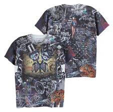 MINUTE MIRTH Men T-Shirt Old School Tattoo Horror Skull Biker Rock Casual #M102