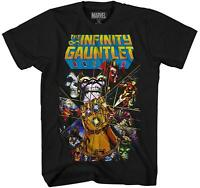 Avengers Infinity War Gauntlet Hulk Spider-Man Iron Man Adult Men's T-shirt Tee