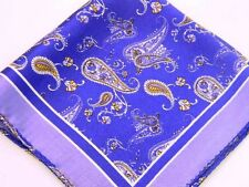 "SPRING SPECIAL!  New 14"" Satin 100% Silk Pocket Square  Lavender Navy"