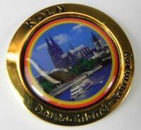 Colonia, Catedral de Colonia, Metal Imán, Color Oro Medalla, Recuerdo Germany