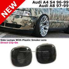 Audi A4 S4 A8 96-99 B5 D2 Fender Pair Side Marker Lights Lamp Smoke Lens