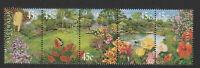 Australia 2000 : Gardens - Se-tenant strip 5 x 45c Decimal Stamps, MNH