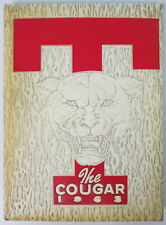 New Listing1963 Tomball Texas High School Texas The Cougar Yearbook All Grades Houston Area