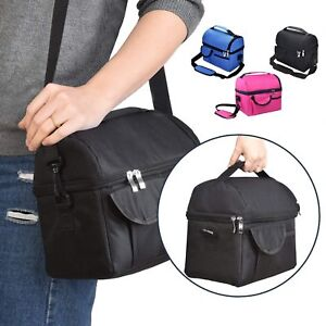 Large Insulated Lunch Bag Box Adult Men Kids Thermal Cool Hot Food Storage Tote