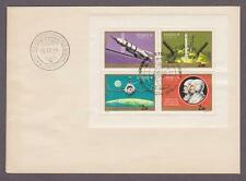 Hungary Airmail # C309 Miniature Sheet , Soyuz 9 Phases FDC - I Combine S/H