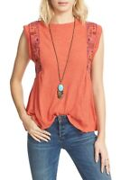 FREE PEOPLE  | Womens Marcy Embroidered Top NEW [ Size M or AU 12 / US 8 ]
