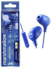 JVC HAFX38MA BLUE Marshmallow In-Ear headphones with Remote & Mic / Brand New