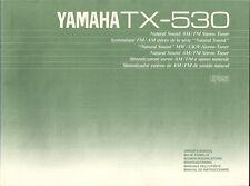 Yamaha TX-530 User Manual BDA Bedienungsanleitung