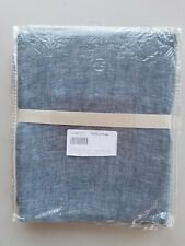 "Pottery Barn Belgian Flax Linen Tie Top Panel Drape Curtain Chambray 96"" #3590"