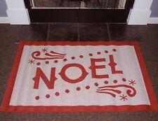 """Noel White / Red Indoor/ Outdoor Rug - 2'5""""x 4'"""
