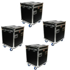 4x Utility Trunks Truck fit wheels caster dish Road Tour cable Case XS-UTL4