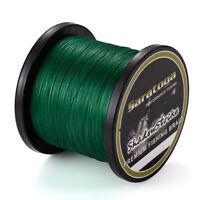 8 Strands Moss Green PE Power Dyneema Braid Fishing Line 100M/300M/500M/1000M