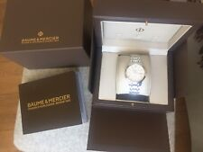 Womens Baume&Mercier Classima Automatic White Sunray Dial Stainless Steel Watch