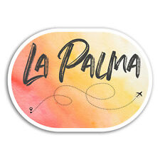 2 x 10cm La Palma Vinyl Stickers - Spain Travel Sticker Laptop Luggage #18743