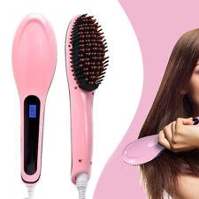 Hair Straightener Brush Electric Straightening Comb Iron Ceramic Heat Massager