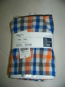 Gap Kids Boxers 2 Pack Sz. L 100% Cotton Multi Color Elastic Waist