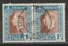 SOUTH AFRICA 1937 1/- CORONATION WITH HYPHEN OMITTED FLAW SG 75a USED FIRST DAY