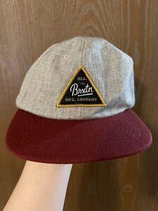 Brixton Supply Ball Cap Hat Snapback Baseball Wool Blend Made In USA