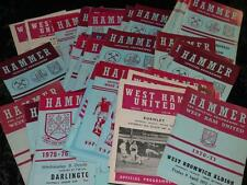 VINTAGE FOOTBALL PROGRAMME West Ham Homes 1974-1978 Selection Available