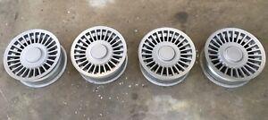 Volvo 240 GLT alloy corona wheels / rims with caps, refurbished and rare X5