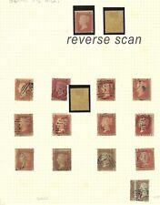 Lot:36397  GB QV  1854-57 1d red penny stars