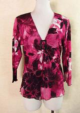 3/4 Arme Damenblusen,-Tops & -Shirts mit V-Ausschnitt und Stretch für Business
