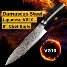 8'' Chef Knife Japanese VG10 Damascus Stainless Steel Kitchen Knives Very Sharp