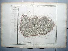 RIESIGE LANDKARTE FRANKREICH DEP. DE LA MEURTE 1790 KUPFERSTICH D'HOUDAN